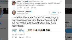 White House defends Trump's tweet about 'tapes'