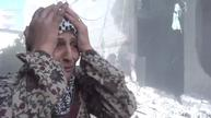 Children rescued from rubble after Damascus missile strike