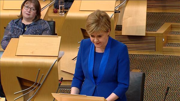 Sturgeon drops immediate plan for second Scottish referendum