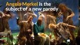 Musical parody has Merkel dancing with refugees