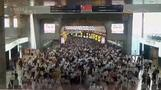 Time lapse captures rush hour in one of Japan's busiest stations