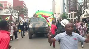Zimbabweans celebrate Mugabe expected downfall