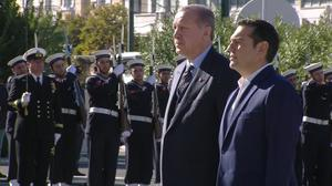 Erdogan ruffles Greek feathers as trip gets underway