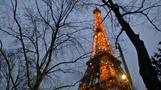 Eiffel Tower gets festive
