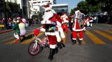 INSIGHT: Bikers rev up for a toy run in Mexico