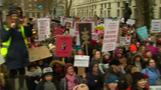 Women march for equal rights in London
