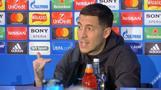 Hazard says he's happy at Chelsea despite Real Madrid links