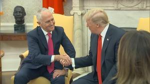 Trump meets Turnbull, mum on Rick Gates