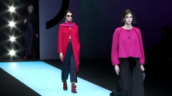 Ethnic styles melded with sleek design are themes for Giorgio Armani fall-winter collection