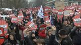 Poles demonstrate against tightening abortion law