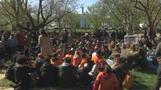 Students sit in silence outside White House to protest gun violence