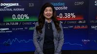 NY株まちまち、金融株や半導体株の下げ目立つ(18日)