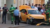 Taxi plows into a Moscow crowd