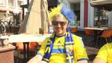 Blue and yellow with speckles of red take over city ahead of Sweden-South Korea match