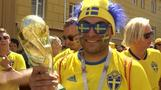Swedish fans make themselves heard ahead of South Korea match
