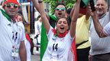 Iranian women enjoying their first sporting experience as fans gear up for Iran-Spain
