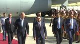 Britain's Prince William arrives in Jordan