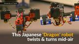 Japan's flying 'dragon' robot changes shape mid-air