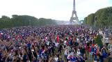France fans go wild after World Cup win
