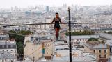 INSIGHT: Tightrope walker performs 35m stunt in Paris