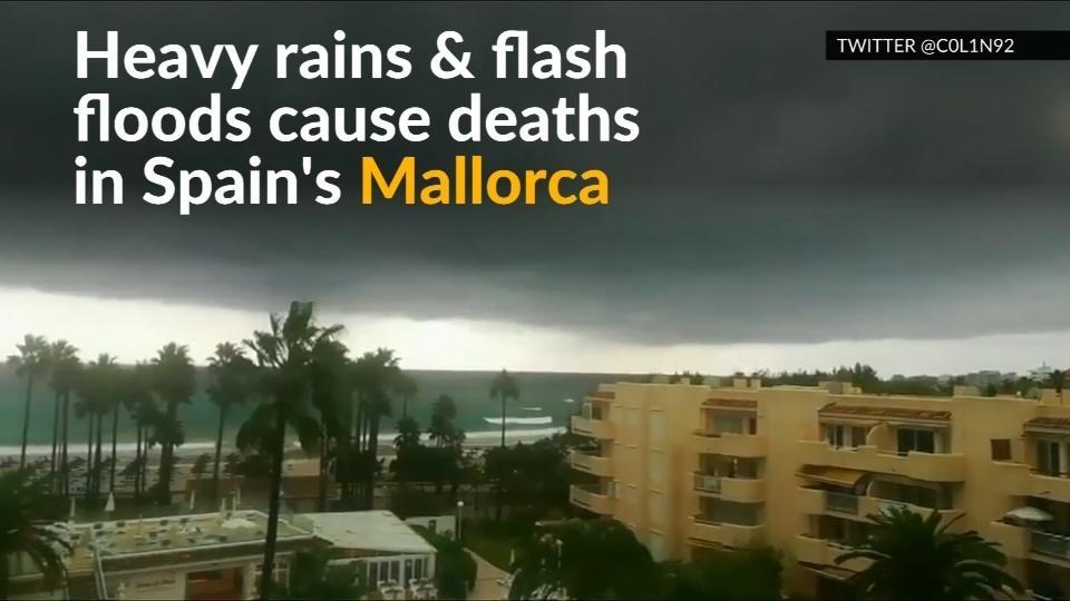Heavy rain and flash floods hit Spain's Mallorca