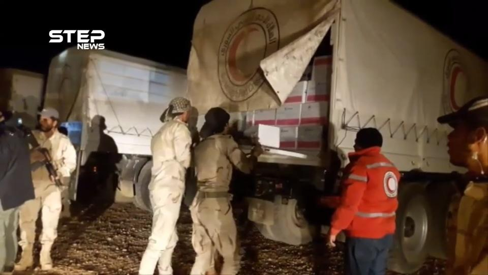 Aid distributed in remote Rukban camp in Syria