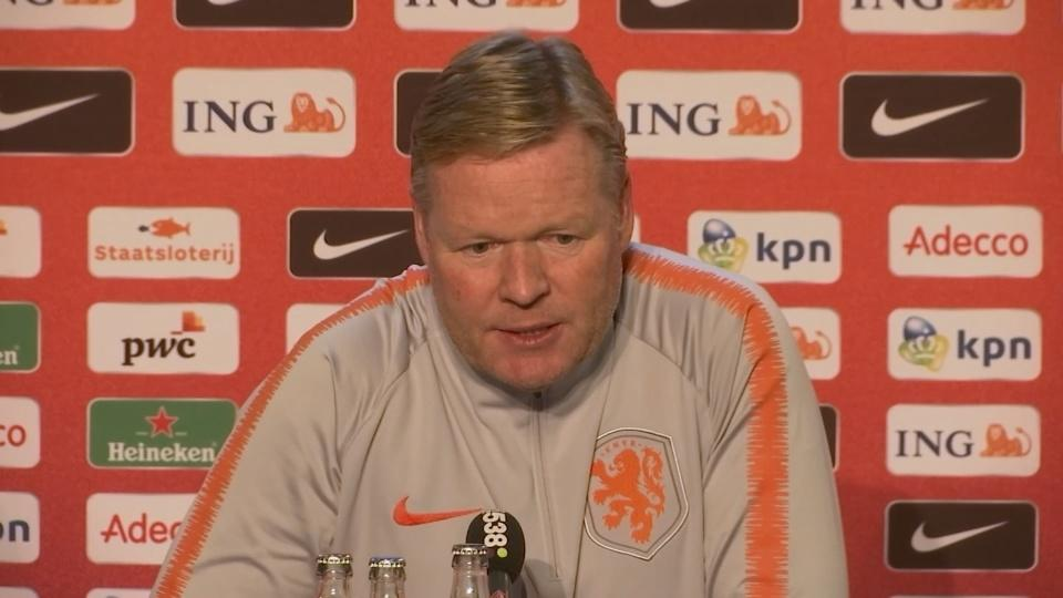 Koeman forecasts difficult home game against France in Nations League