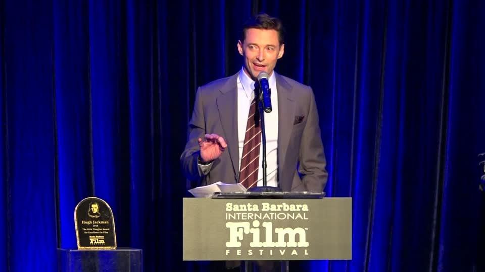 Hugh Jackman honored with Kirk Douglas Award in Santa Barbara