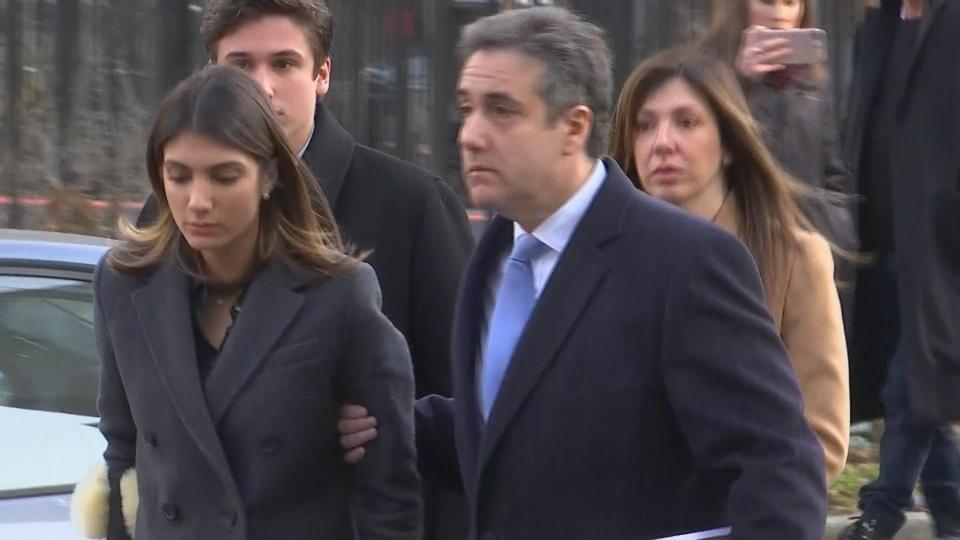 Ex-Trump lawyer Cohen arrives for sentencing