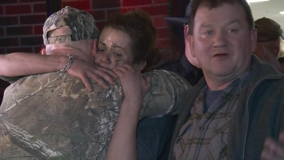 Hugs and cheers after West Virginia mine rescue