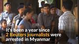 ミャンマーでロイター記者2人が拘束されてから1年(12日)