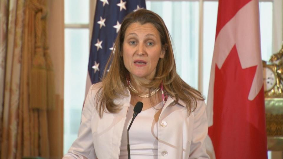 Huawei case must remain apolitical: Freeland