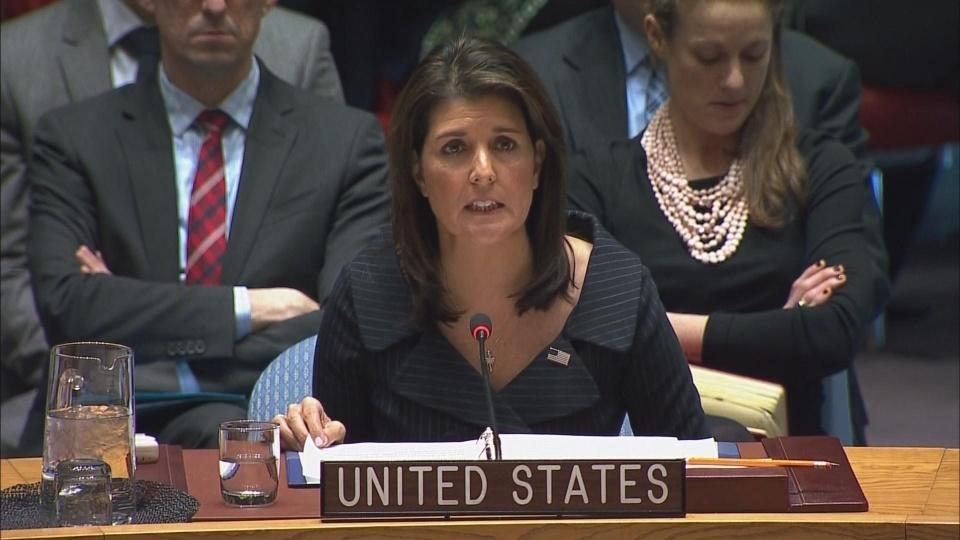 Haley presents U.S. Middle East peace plan in final remarks