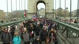 خروج الآلاف في مسيرات ضد رئيس الوزراء المجري في العاصمة بودابست