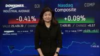 ダウとS&P反落、弱い小売統計が重し(14日)