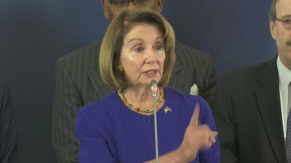 Pelosi, lawmakers seek to mend fences in Europe