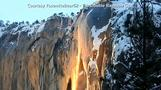 'Firefall' phenomenon sweeps over snowy Yosemite cliff