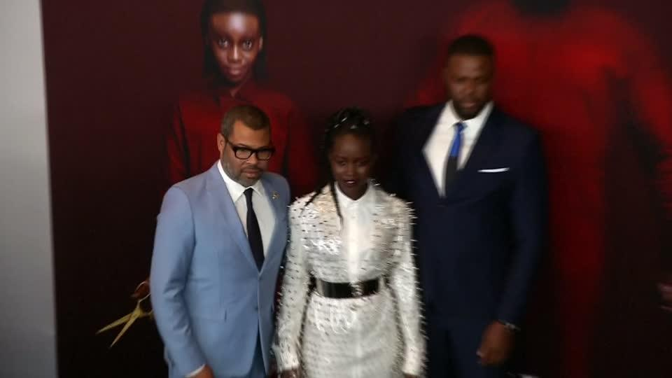 """Jordan Peele, Lupita Nyong'o and the cast of """"Us"""" hit the red carpet in New York"""