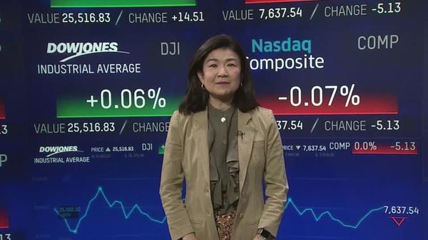 NY株まちまち、世界景気懸念で(25日)