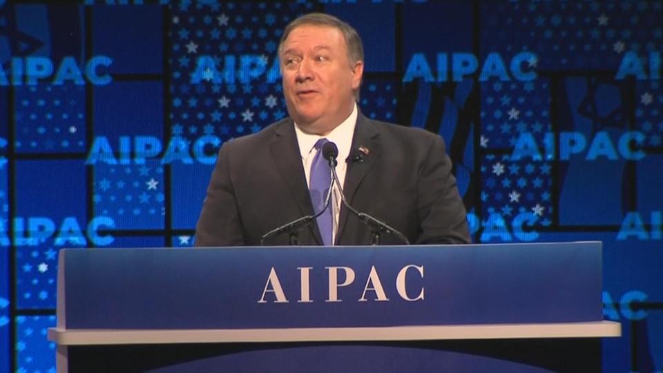 Pompeo praises U.S. Golan recognition