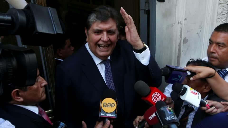 Peru's ex-leader dies after self-inflicted gunshot wound