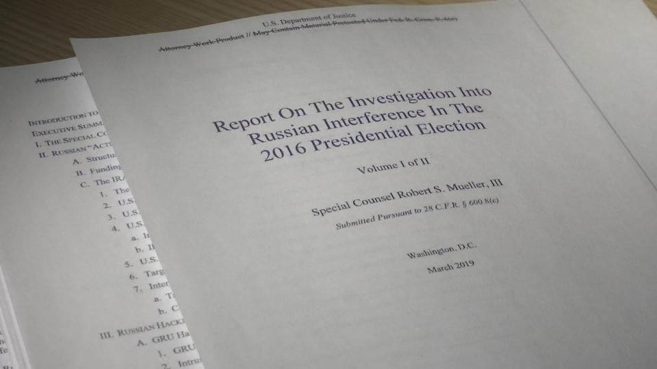 Redacted Mueller report released