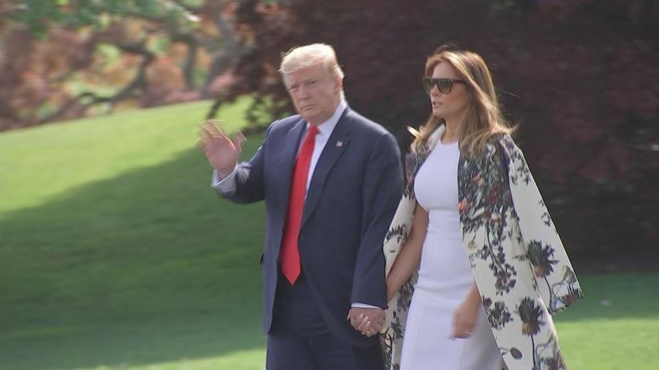 No remarks from Trump on departure to Mar-a-Lago