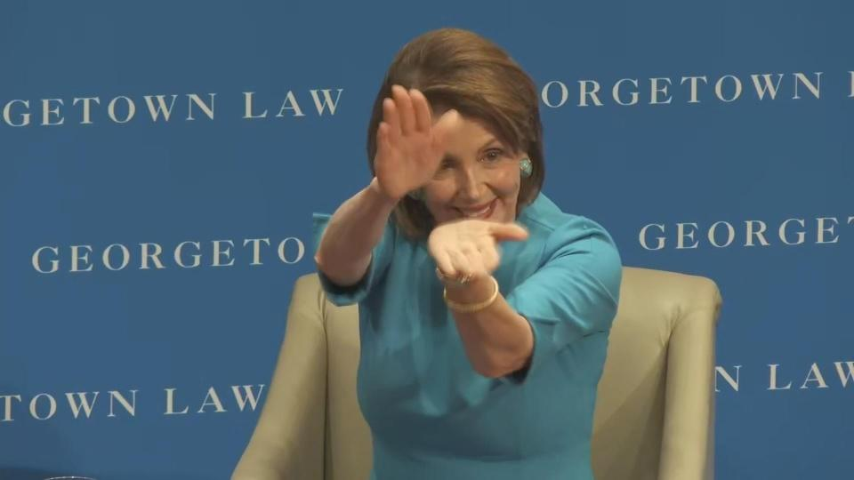 The Pelosi clap is back