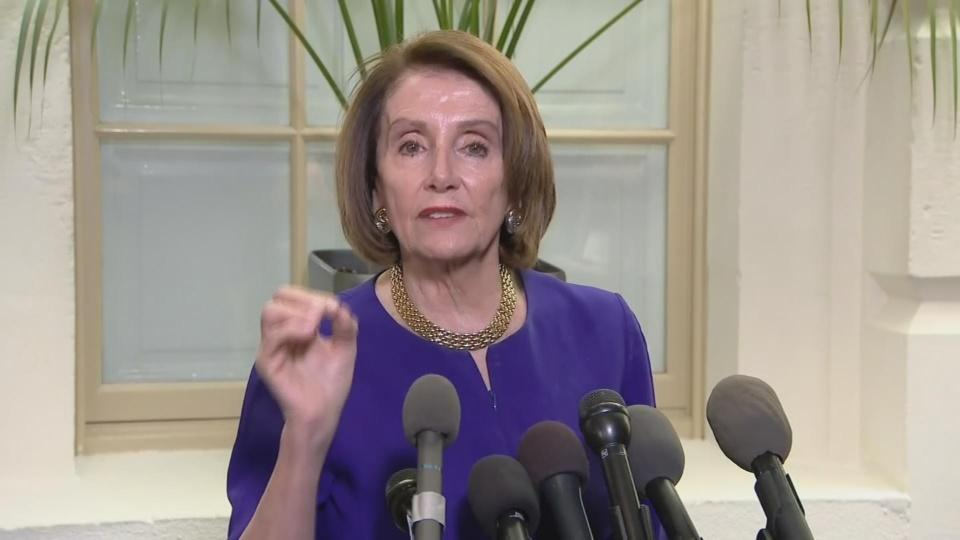 "Pelosi: Trump is engaged in a ""cover up"""