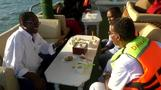 Floating restaurant brings joy off Somalia's coast