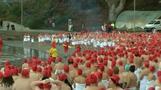 Australians brave the chill for nude solstice swim in Tasmania