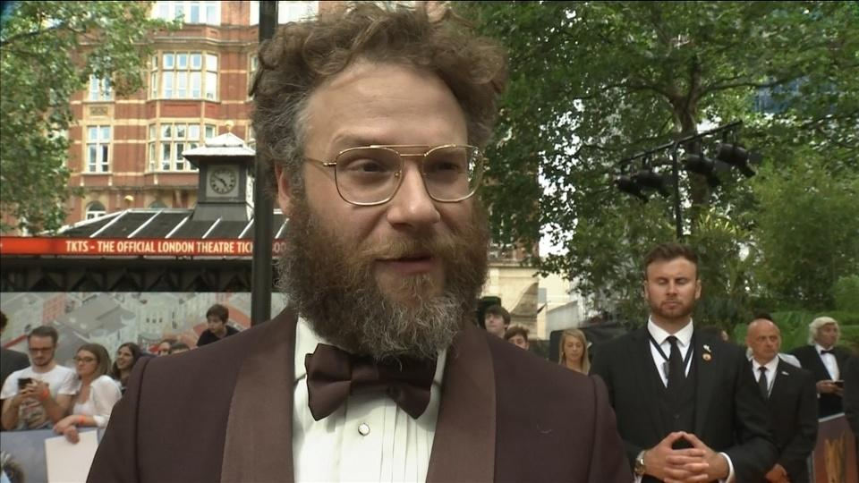 "Seth Rogen on 'super weird' royal premiere of ""The Lion King"""