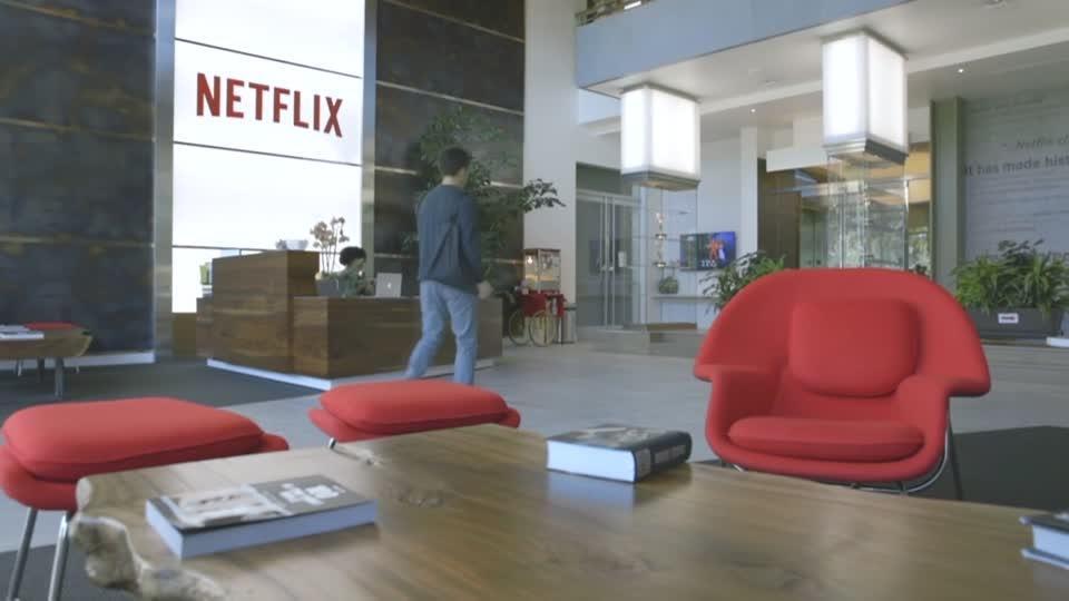 Netflix shares sink