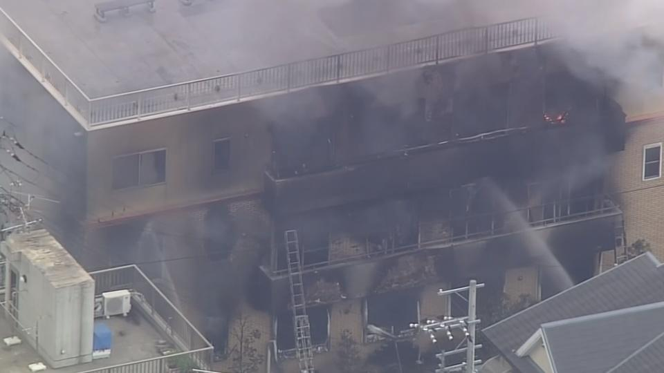 At least 23 feared dead after a fire at a Japanese animation studio